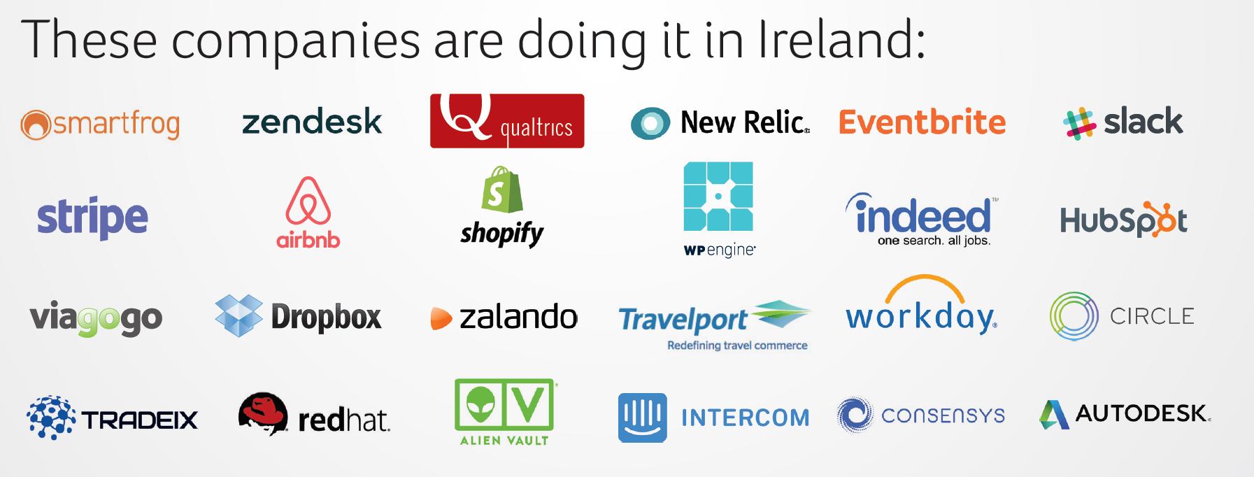 companies doing it in Ireland